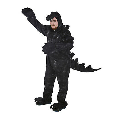 Adult Men's Godwin Godzilla Dinosaur Dragon Monster Halloween Costume Jumpsuit