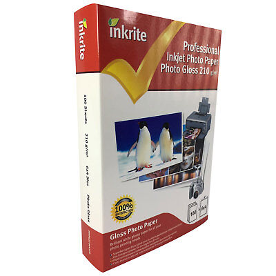 Professional Glossy Laser Paper (Inkrite Photo Plus Professional Paper Photo Gloss 210gsm 6x4 (100 sheets) )