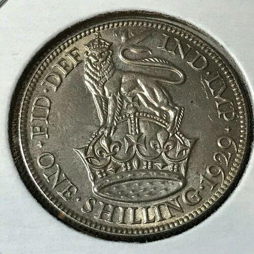 1929 GREAT BRITAIN SILVER SHILLING BRILLIANT UNCIRCULATED COIN