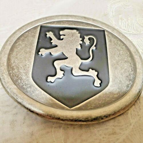 Peugeot Lion Emblem Vintage Black Accent on Faux Pewter Belt Buckle