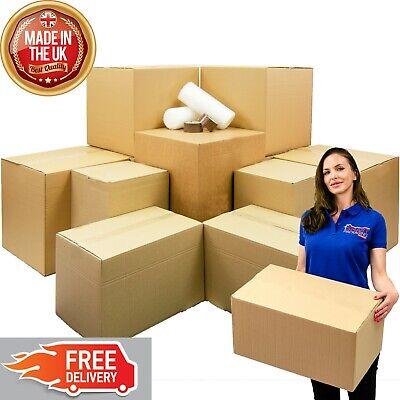 Student Moving Kit Pack - Cardboard Boxes, Tape, Bubble Wrap, Pen,  Home Kit