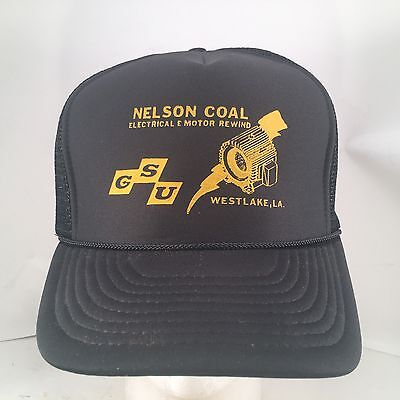 Rewind Motor (Vintage Nelson Coal Electrical & Motor Rewind Rope Front Snapback Trucker Hat)