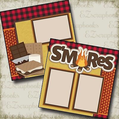S'MORES - 2 Premade Scrapbook Pages - EZ Layout 2179
