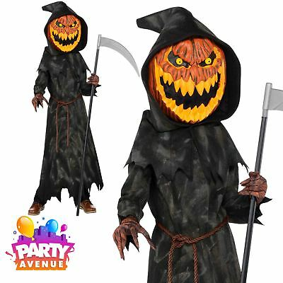 Jack Head Costume (Teen Jack O Lantern Head Halloween Costume Fancy Dress)