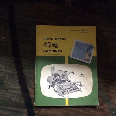 John Deere 45 Hi Lo Combine Operators Manual Omh90736
