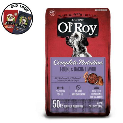 Ol Roy Complete Nutrition T-Bone & Bacon Flavor Dry Dog Food, 50 lb