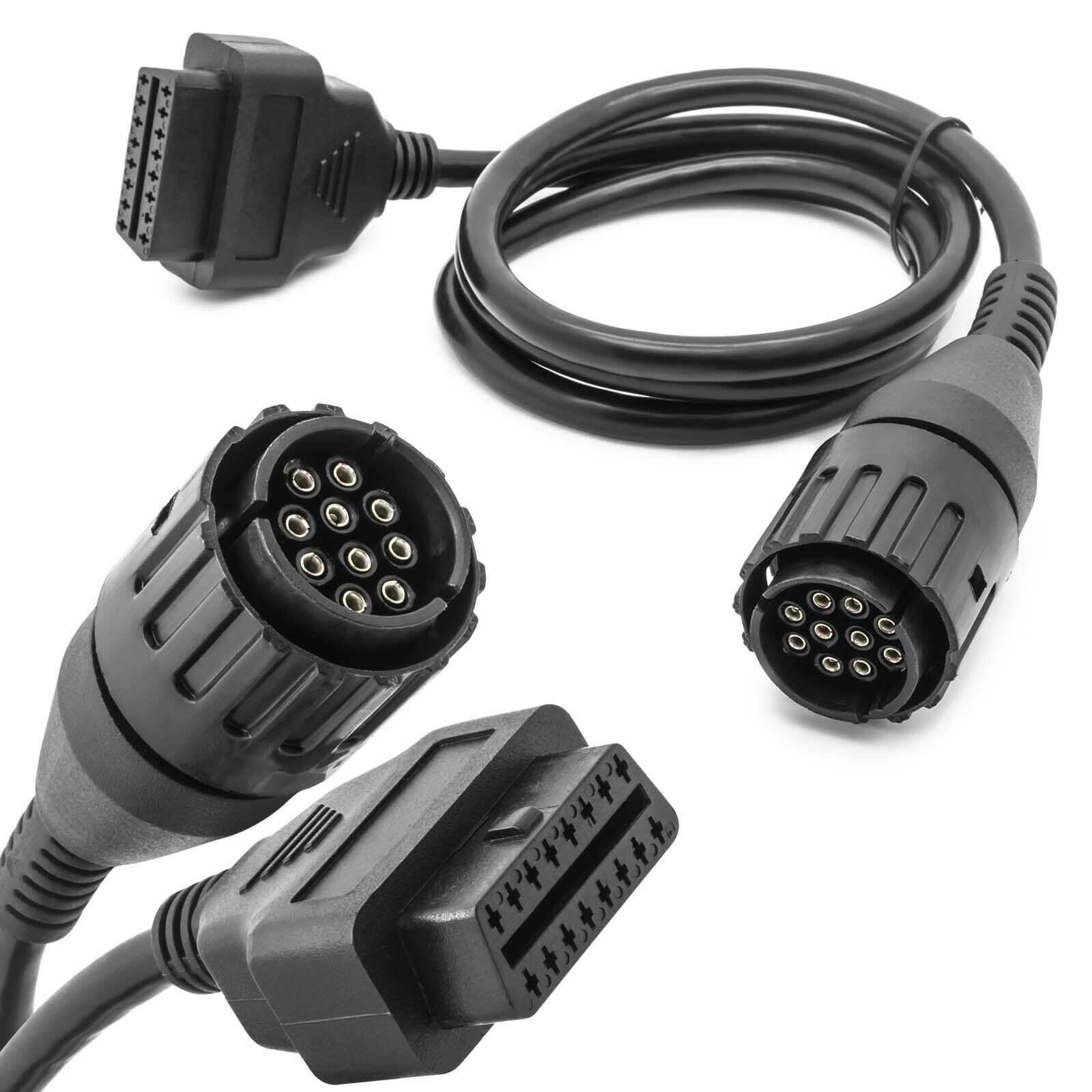 Auto Motorrad Adapterkabel 10 Pin auf 16 Pin OBD2 Adapterstecker Diagnosekabel