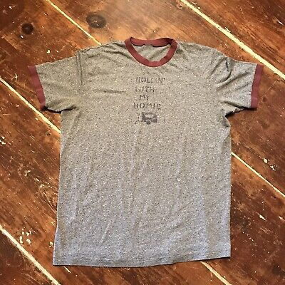 Abercrombie & Fitch Rollin' With My Homie Retro Camping Ringer T-Shirt Mens XL