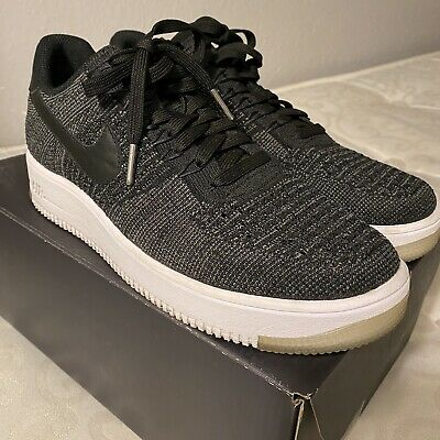 Nike Air Force 1 Ultra Flyknit Low Black Grey White UK Size...