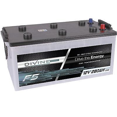 DiVine F5 12V 280Ah Batterie Solar Versorgung Notstrom Windkraft Beleuchtung