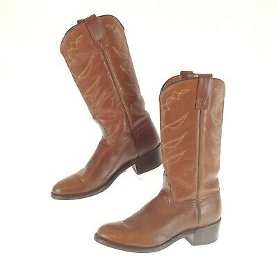 Acme Womens 7 Boots Vtg Brown USA Made Western Cowgirl Riding
