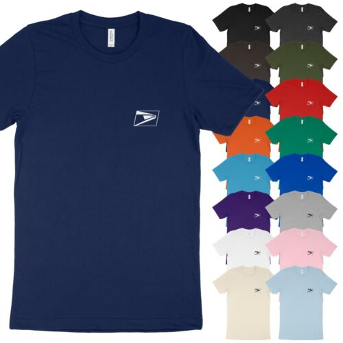 USPS Postal Service Post Office Small Logo Soft 4.2oz Cotton Unisex Tee T-Shirt