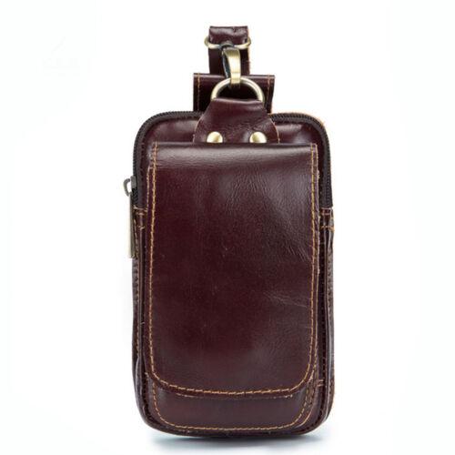 Ceinture de sac banane en cuir pour sac de taille flip vintage pour homme