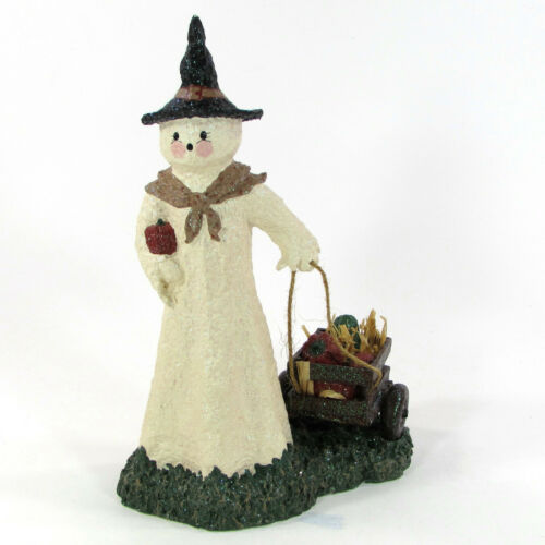 "Broomsnickle GHOST WITH WAGON 10"" Figurine Linda L. Baldwin 739367 Halloween"