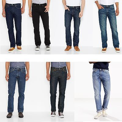 Levis ® 501 ® Denim Herren Jeans Hose blau schwarz black - Levis 501 Jeans Blau Jeans