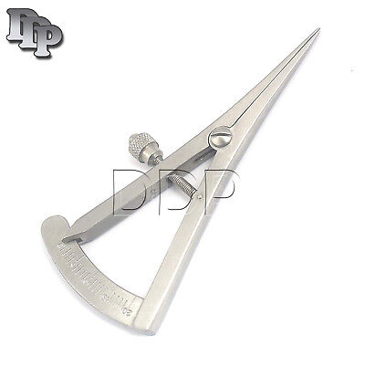 Castroviejo Caliper Surgical Dental Medical Instruments 0 To 20 Mm 3.25 8.3cm