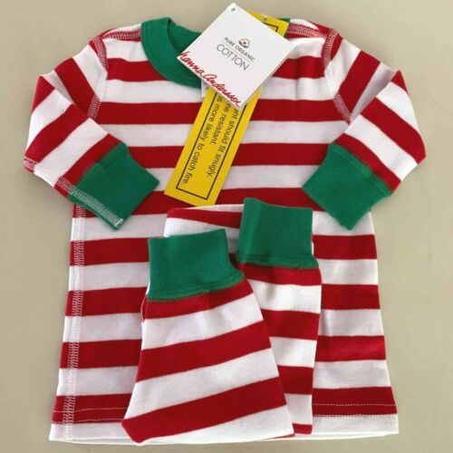 """HANNA ANDERSSON Baby Girls-Boys """"STRIPED"""" Pajama Set. 0-6 months, 50 cm. Comfy!"""