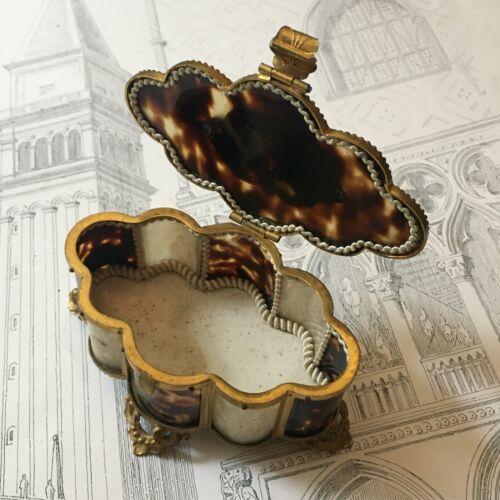 Antique Boxset Jewelry Brass And Tortoiseshell Nineteenth Napoleon III -