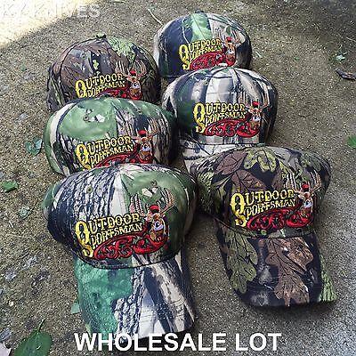 Outdoor Wholesale (WHOLESALE LOT 6X CAMO OUTDOOR SPORTSMAN Baseball Caps Adjustable HT-123 CM6)