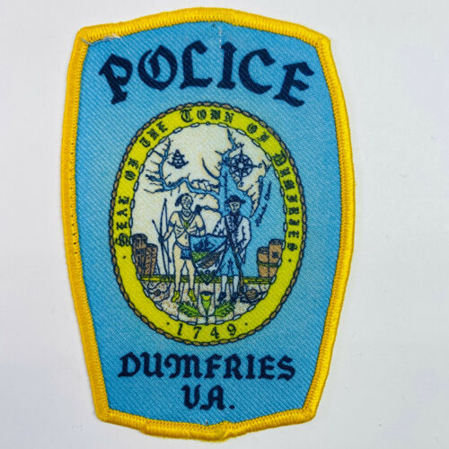 Dumfries Police Prince William County Virginia VA Patch (A5)
