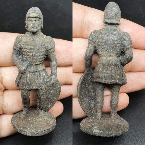 BRONZE AGE EUROPEAN BRONZE ANCIENT SOLDIER STATUE 2000-1500BCE