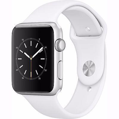 Apple Watch 2 Series 1 42mm Silver Aluminum Case White Sport Band - (MNNL2LL/A)