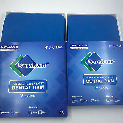 Dental Rubber Dam Sheet Natural Pure Latex 55-52pcs 66-36pcs 1 Box