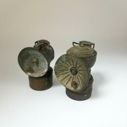 The Baldwin Lamp Miners Carbide Light Brass Antique John Simmons Co Vintage