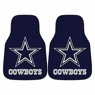 Dallas Cowboys 2-Piece Carpet Car Auto Floor Mats