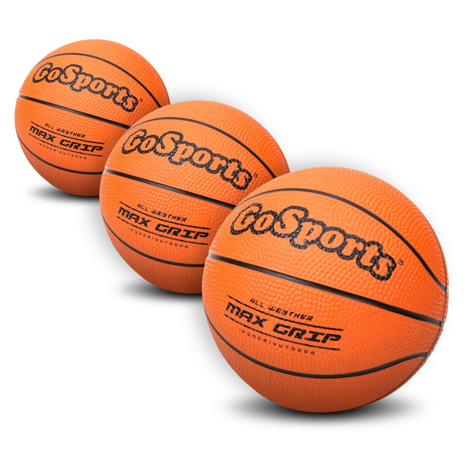 mini basketballs gosports 5 inch mini basketball 3 pack premium pump included - Basketball Display Case