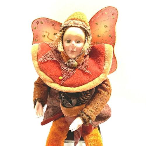 Vintage Autumn Fairys Pixies Fall Colors Thanksgiving Doll