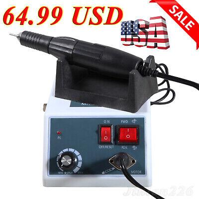 Dental Lab Marathon Electric Micromotor35k Rpm Handpiece Polishing Unit 10 Bur