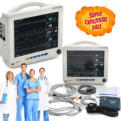 Us Medical Icu Ccu 6-parameter Vital Signs Patient Monitor Thermal Printer Fda