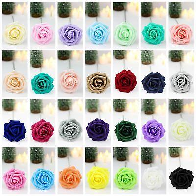 10X 50X Foam Roses Artificial Fake Flowers Party Wedding Bridal Bouquet Decor - Foam Flower