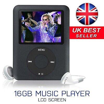 Slim 1.8in LCD 16GB MP4 MP3 Music Media Video Player FM-Radio Recorder Games UK