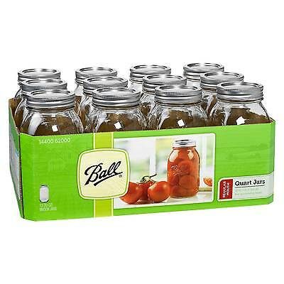Ball® Set of 12 1 Quart (32 oz.) Regular Mouth Canning Jar