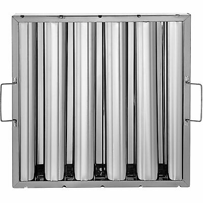 6 Pack 16x16 Stainless Steel Hood Grease Exhaust Filter Baffle 5 Slots