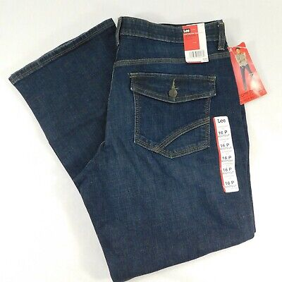 Comfort Bootcut Jean (Lee Comfort Fit Barely Bootcut Stretch Dark Wash Jeans NWT MSRP $54 16 Petite  )