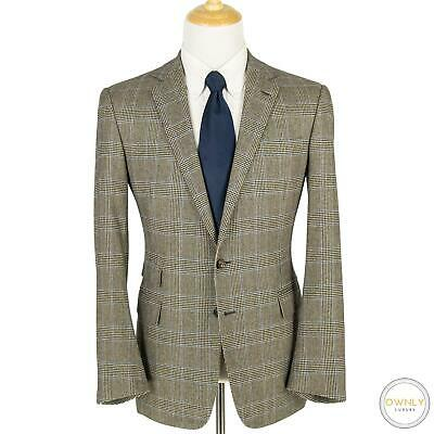 NWOT Ralph Lauren Purple Label Wool Cashmere Glen Plaid Side Tabs Tweed Suit 42R