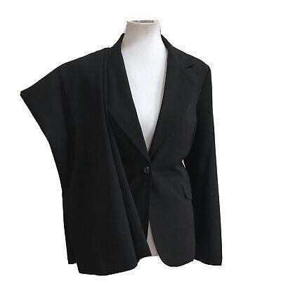 LARRY LEVINE Women 2 PC Black Career Pant Suit Size 12