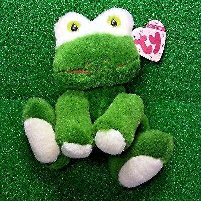 7ae2ced7fa2 Ty Attic Treasures Prince The Frog Rare Retired 1993 Jointed Plush Toy MWMT