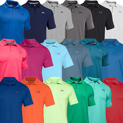 Mens Performance Golf Shirt (Under Armour Mens UA Performance 2.0 Tour Golf Sports Polo Shirt - 1242755)