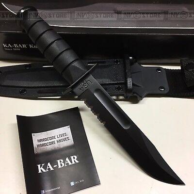 KNIFE COLTELLO KA-BAR FILO COMBINATO **ORIGINALE 100% MADE IN USA** FODERO KYDEX