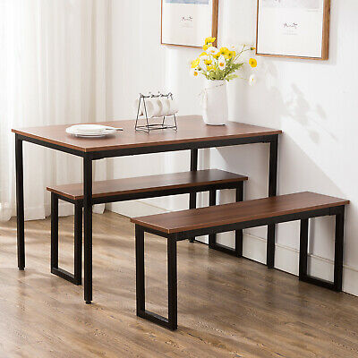 Retro Dining Set Breakfast Nook Table And 2 Benches Rectangular Kitchen Room Breakfast Nook Dining Table