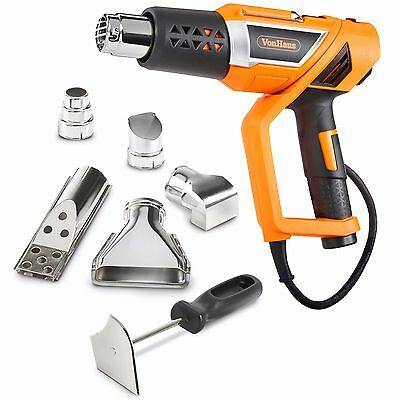 Vonhaus Electric Hot Air Heat Gun Kit 1500W Adjustable Temperature 5 Nozzles