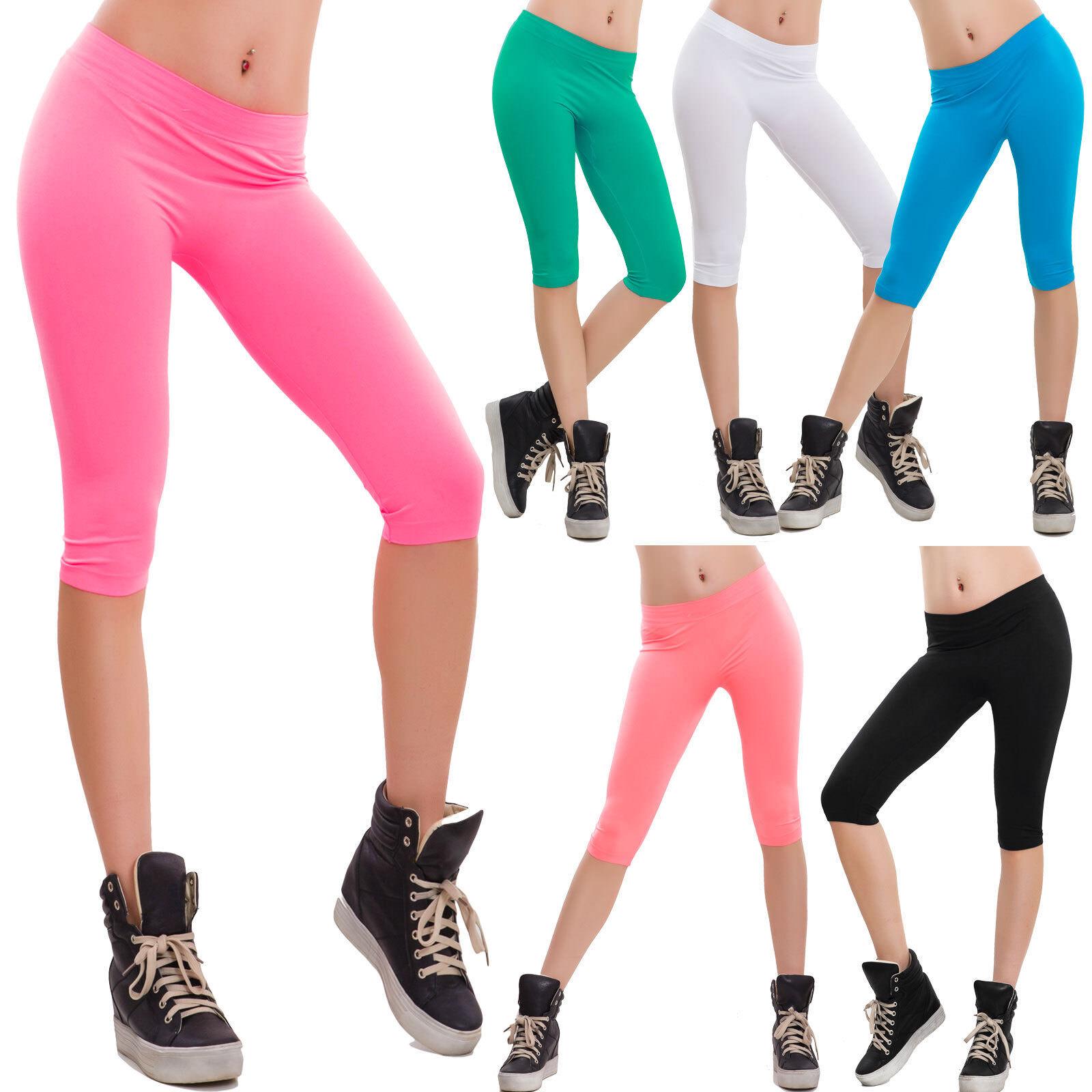 Pantalones cortos shorts mujeres Capris deporte polainas fitness Microfiber  F3267 2f7a457e84a6