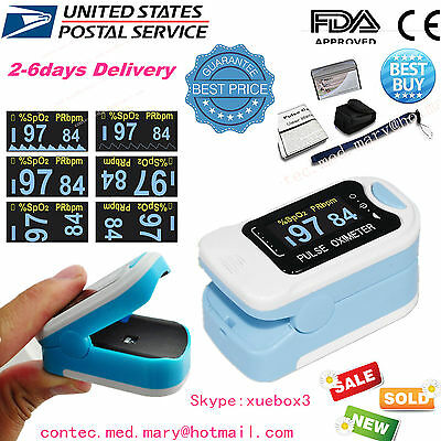 2017 US new Finger Tip Blood Oxygen SPO2 OLED Pulse Oximeter Heart Rate Monitor