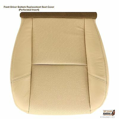 - 2007 2008 Cadillac Escalade Driver Side Bottom Perforated Leather Seat Cover Tan
