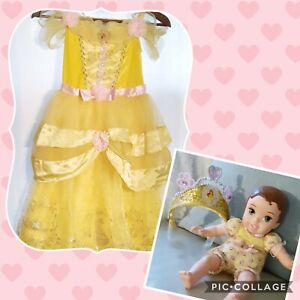 Disney Belle Princess Costume with Crown and Baby Belle Doll