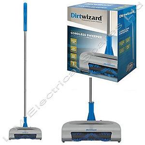Dirtwizard Super Lightweight Rechargeable Cordless Carpet Sweeper Cleaner